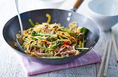 Leftover lamb, ginger and broccoli stir-fry