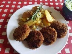 Luxusné karbonátky (fotorecept) Ale, Muffin, Chicken, Meat, Breakfast, Food, Morning Coffee, Ale Beer, Essen