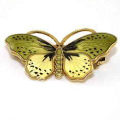 Opro Sterling Silver Multi Color Enamel Butterfly Pin Brooch | eBay