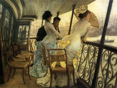 The Gallery of H.M.S. 'Calcutta' (Portsmouth) by James Jacques Joseph Tissot (October 15, 1836 - August 8, 1902)