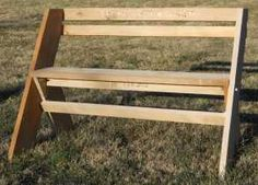 Completed Aldo Leopold bench with nice modifications
