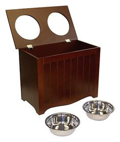 Pet Supplies : APetProject Large Pet Food Server & Storage Box (Chocolate Brown) *LIMIT 1 PER ORDER* : Elevated Pet Bowls : Amazon.com