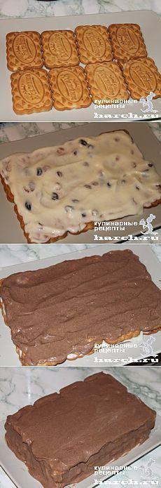 Торт без выпечки из печенья с творогом «Семейный» - Простые рецепты Овкусе.ру