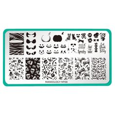 Halloween: Bad to the Bone (m158) - Nail Stamping Plate – Maniology