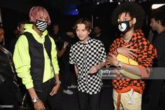 Jacob Sartorius (C) with AYO & TEO pose backstage at the 2017 Nickelodeon HALO Awards at Pier 36 on November 4, 2017 in New York City.