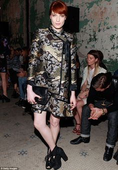Putting her best fashion foot forward: It was back to reality for Florence Welch as she attended the Proenza Schouler show during New York Fashion Week on Wednesday