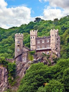 Photographic Print: Castle Rheinstein, Rheinland-Pflaz, Germany by Miva Stock : Beautiful Castles, Beautiful Buildings, Beautiful Places, Germany Castles, Scotland Castles, Castle Ruins, Castle House, Places Around The World, Around The Worlds
