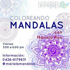 Este viernes  clase de #Mandalas con @marielamandalas  aprende a hacer estos círculos sagrados y a utilizarlos en tu proceso de autodescubrimiento. El próximo ciclo inicia este viernes 3 de febrero a las 3.00 pm