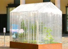 If you have enough clear bricks lying around you too can build your own Lego greenhouse.