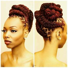You Should Experience Srt Loc Updo Styles At Least Once In Your Lifetime And Here's Why Dreadlock Styles, Dreads Styles, Updo Styles, Pelo Natural, Natural Hair Care, Natural Hair Styles, Dreadlock Hairstyles, Braided Hairstyles, Cool Hairstyles