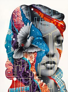 New mixed media artworks by tristan eaton - inspiration grid design inspira Graffiti Art, Art Simple, Mixed Media Artwork, Art And Illustration, Art Design, Media Design, Grafik Design, Street Artists, Medium Art