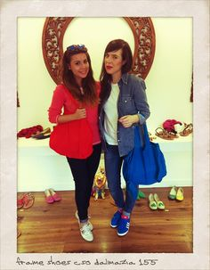 Lovely Valentina Marzullo & Nunzia Cillo in our store.