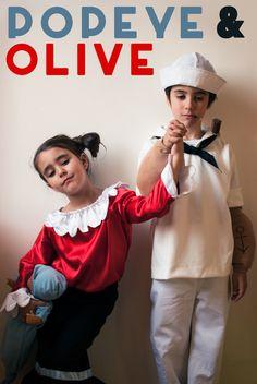 POPEYE and OLIVE//petitapetitandfamily.com
