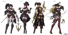 ArtStation - Pirate Armor Basic Full Set, Woo Kim