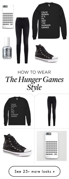 """Untitled #138"" by izzy6603 on Polyvore featuring 7 For All Mankind, Converse and Essie"