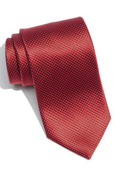Ermenegildo Zegna Woven Silk Tie available at #Nordstrom - red ties