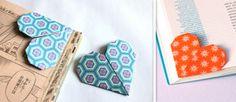 Un marque page d'angle en origami