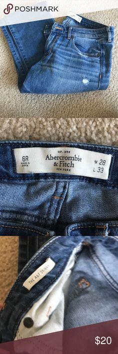 Worn lightly lots of wear left very comfortable Very comfy fit low rise skinny Abercrombie & Fitch Jeans Skinny
