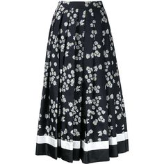 Macgraw Daisy Chain skirt (£535) ❤ liked on Polyvore featuring skirts, black and silk skirts