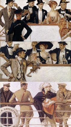 Handsome Man Reads The News Vintage Illustration. Jc Leyendecker, Classical Art, Gay Art, Character Illustration, Traditional Art, Oeuvre D'art, Art Inspo, Art History, Vintage Art