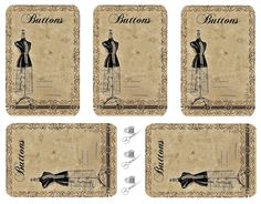 Vintage Inspired: button card freebie.