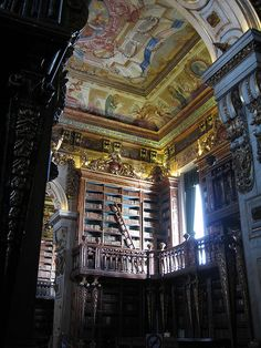 Coimbra's university  library #Portugal