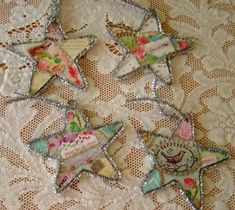 Paris Tinsel Star Ornaments