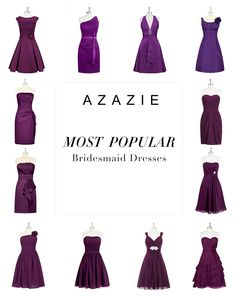 Azazie is the online destination for special occasion dresses. Find the perfect bridesmaid dresses, with over 300 styles in grape on AZAZIE. See more on the website: http://www.azazie.com/all/bridesmaid-dresses/colors/grape