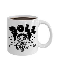Halloween scary Rag doll face coffee mug, halloween decor, halloween decoration, fall decor, birthday gift Funny Coffee Mugs, Coffee Humor, My Coffee, Halloween Design, Scary Halloween, Gifts For Veterans, Employee Gifts, Mugs For Men, Cat Mug
