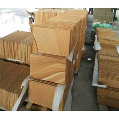 Yellow Wooden Sandstone Wall And Flooring Tiles China Supplier - Stone2Buy.com