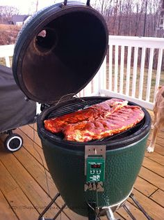 The Patriotic Pam...: Fall off the bone, Ribs on the Big Green Egg