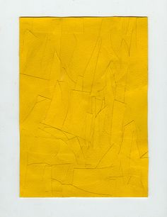 -use the same fabric, make a picture with the texture of the lines Orange Art, Yellow Art, Yellow Painting, Mellow Yellow, Collage Art, Paper Collages, Texture Photography, Cardboard Art, Yellow Paper