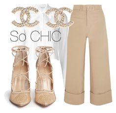 """So Chic"" by luna-nativa ❤ liked on Polyvore featuring Helmut Lang, Sea, New York, Gianvito Rossi, Chanel, nude and strappyshoes"