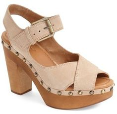 Love these suede heels with wood bottoms and stud detail. Ankle strap. Corso Como 'Nola' Platform Sandal (Women)