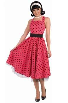 Robe Années 50 A Pois Rouge costume