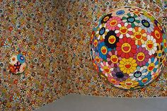 Takashi Murakami flower ball - reminds me of millefiori, only more smiley.  Which is all good in my book.  :)