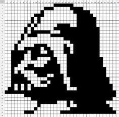 Star Wars Darth Vader perler bead pattern by Kristen Goodrich