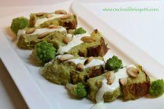 Una ricetta per mangiare le verdure in modo saporito ed invitante il polpettone di broccoli con crema di caprino e mandorle.