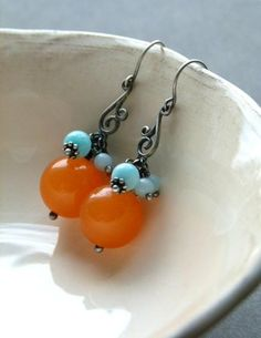 Looking for jewelry project inspiration? Check out Tangerine and Mint by member DeFactory. - via @Craftsy