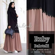 *NEW ruby maxy Bd*project HARGA : . - new ruby maxy mc bahan balotelly u. Niqab Fashion, Muslim Fashion, Modest Fashion, Women's Fashion Dresses, Hijab Style Dress, Hijab Chic, Muslim Long Dress, Abaya Designs, Modest Wear