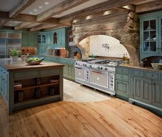 Tuscan Style at Officine Gullo Bespoke Cooking Ranges #officinegullo # Kitchen