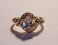 Gorgeous Clear Pear Shaped & Pave CZ Sterling by BuccaneerTrading, $55.00