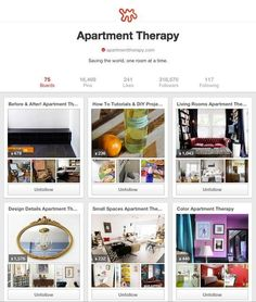 Your Pinterest Boards Just Got Easier to Organize! | Apartment Therapy