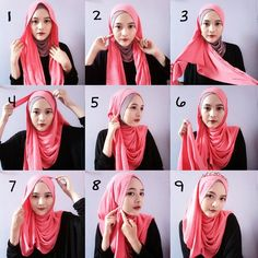 This is a fun hijab style using two colors and beautifully wrapping them for a stylish and trendy look, get an underscarf and your hijab ready to get this look following the steps listed below: 1. Place your hijab equally…