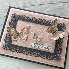 Card Idea using Stampin' Up! Butterfly Gala Stamp Set and Ornate Layers Dies Stampin Up Catalog, Embossed Cards, Stamping Up Cards, Greeting Cards Handmade, Butterfly Cards Handmade, Card Sketches, Paper Cards, Flower Cards, Creative Cards
