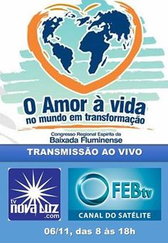 Transmissão Ao Vivo do Congresso Regional Espírita da Baixada Fluminense - RJ - http://www.agendaespiritabrasil.com.br/2016/11/02/transmissao-ao-vivo-do-congresso-regional-espirita-da-baixada-fluminense-rj/