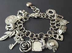 Items similar to Large Charm Bracelet on Etsy Designer Jewellery, Jewelry Design, Unique Jewelry, Charm Bracelets, Charmed, Trending Outfits, Handmade Gifts, Pretty, Vintage