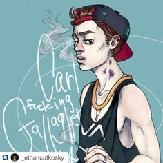 Nothing like a piece of Shameless fan art to start the day off right. #CarlGallagher #Shameless