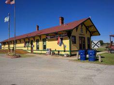 Santa Fe Depot of Lindsay in Garvin County, Oklahoma.