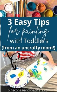 Tips from an uncrafty mom! I'm sharing 3 tips on painting with your toddler when you don't have all the supplies. Check around your house for things you might already have on hand. #toddleractivities #funtoddleractivities #cheaptoddleractivities Rainy Day Activities For Kids, Activities For 2 Year Olds, Kids Learning Activities, Spring Activities, Toddler Activities, Sensory Activities, Boredom Busters For Kids, Kids And Parenting, Parenting Tips